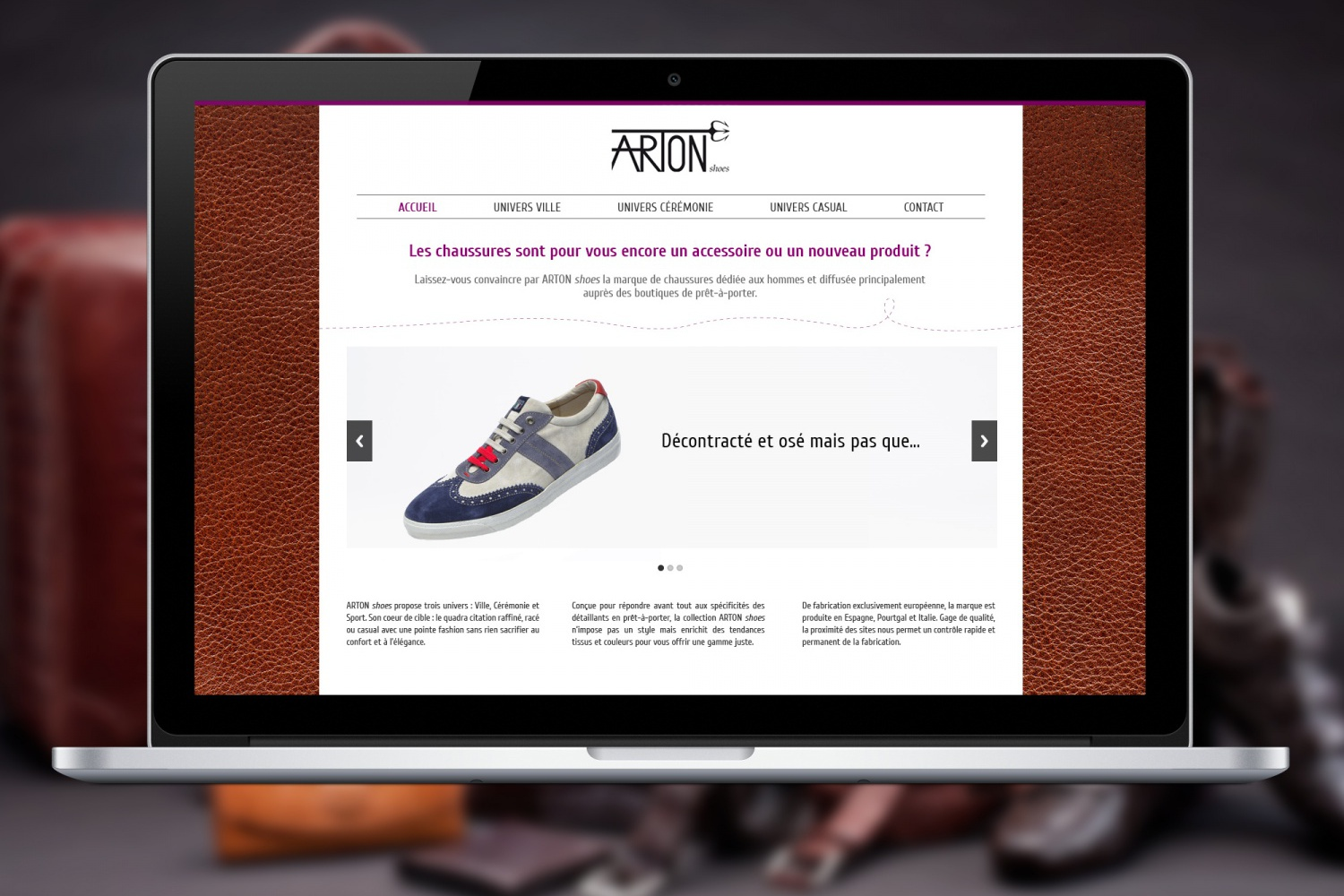 Arton Shoes - Site internet