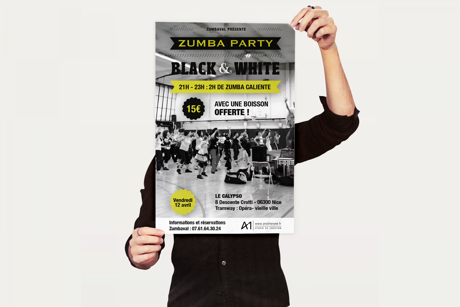 Flyer - Zumba Party Black & white