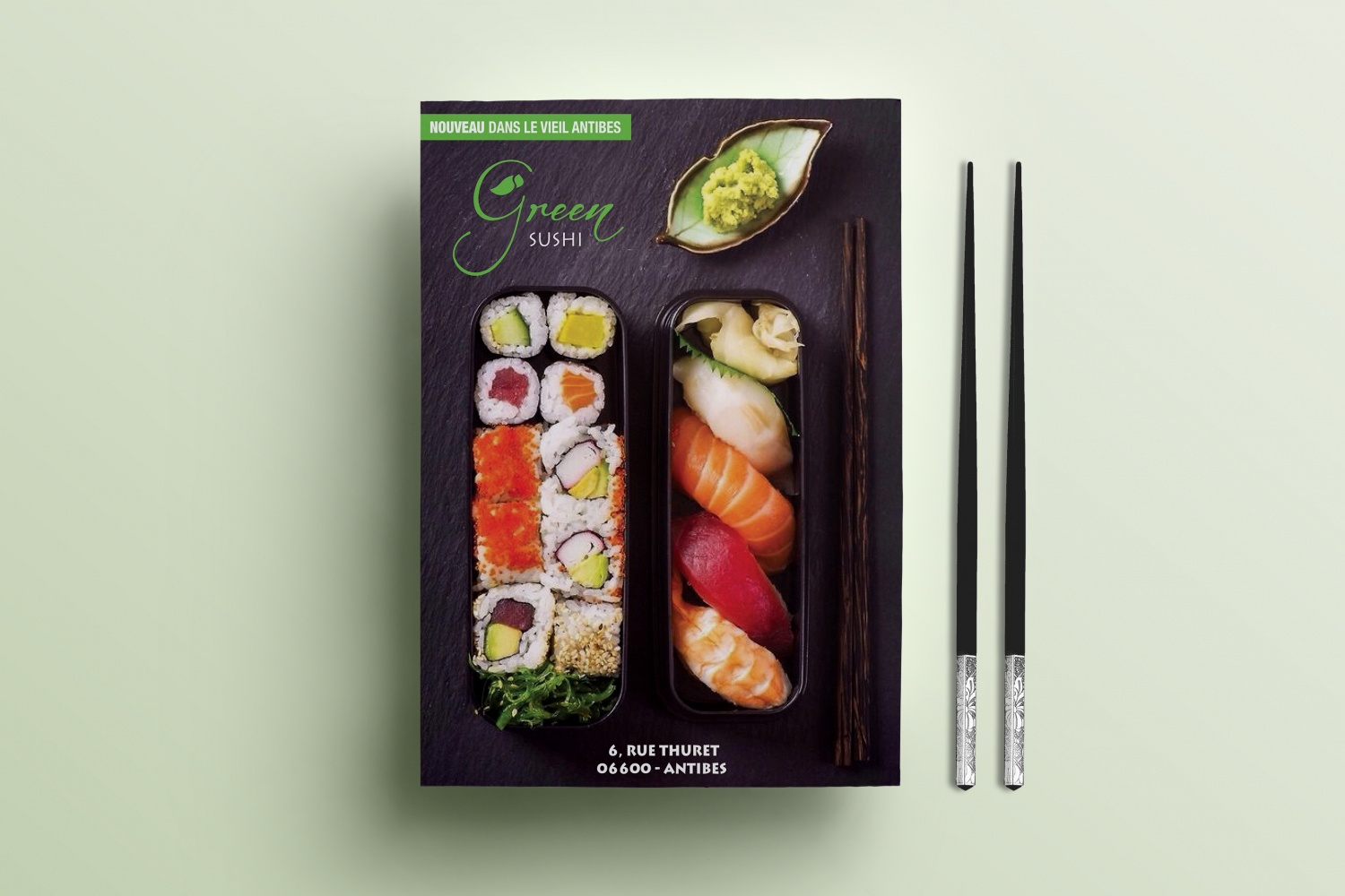 Flyer Green Sushi Antibes
