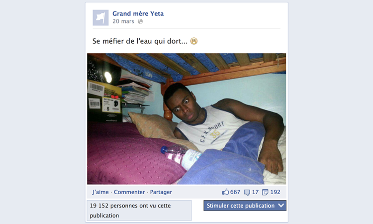 Exemple de post Facebook